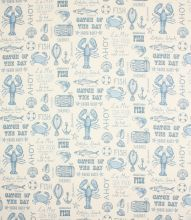 Made to Measure Seafood Fabric / Blue