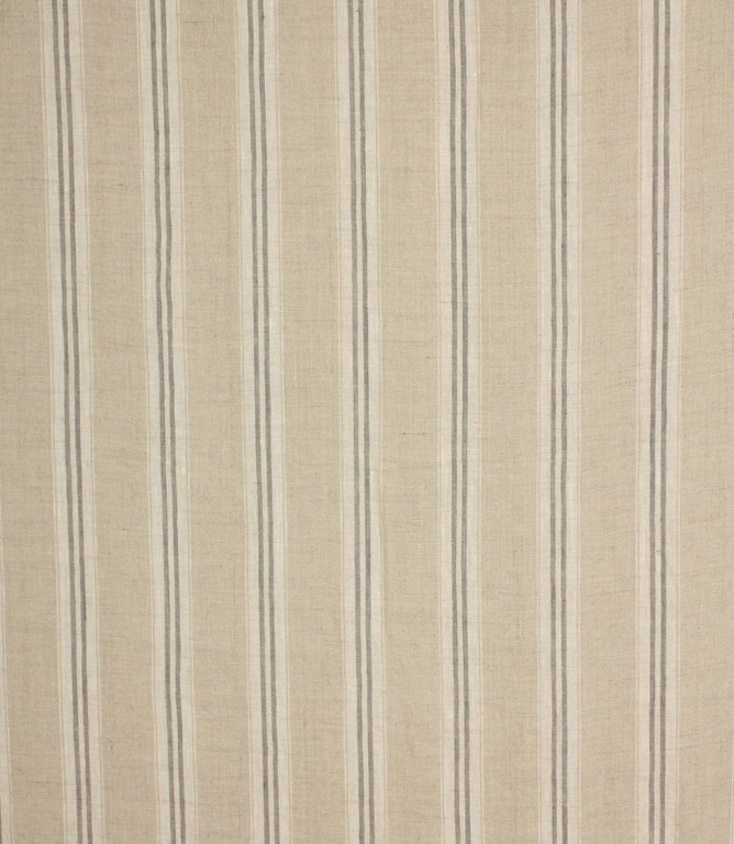 Cotswold Stripe Fabric / Charcoal