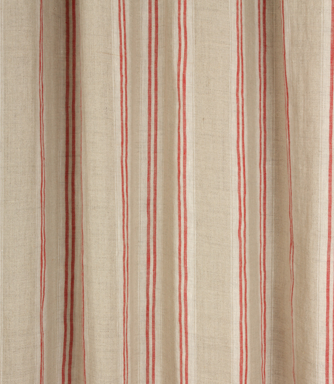 Cotswold Stripe Fabric / Red