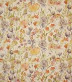 Autumn Floral / Linen Fabric