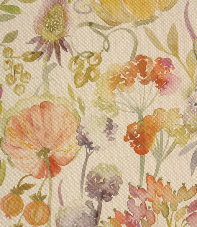 Voyage Decoration Autumn Floral Fabric / Linen