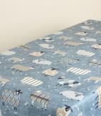Baa Baa PVC / Denim Fabric