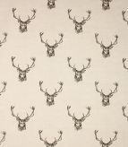 Stags / Charcoal Fabric