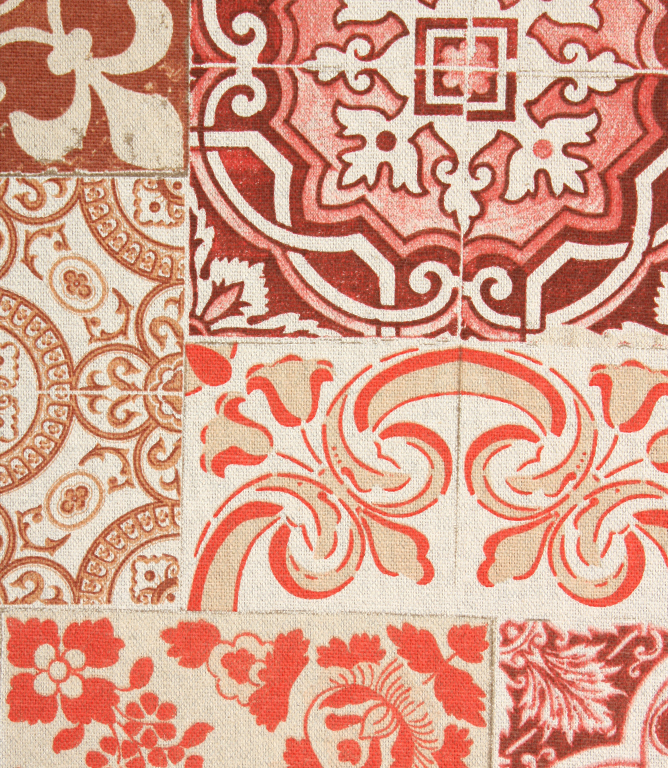 Tiling Fabric / Red