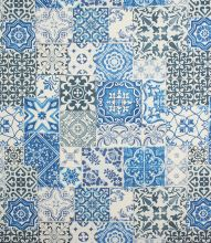 Made to Measure Tiling Fabric / Blue
