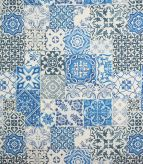 Tiling Fabric / Blue