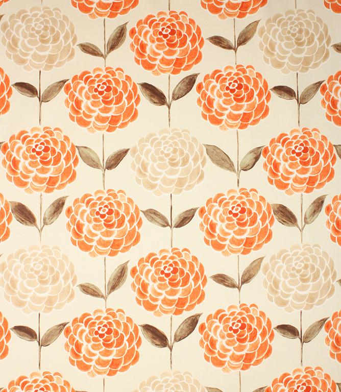 Tijuana Fabric Tangerine Just Fabrics