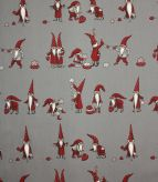 Christmas Craft Fabric / Grey