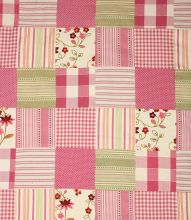 Made to Measure Voyage Decoration Dorothy Patchwork Fabric / Raspberry