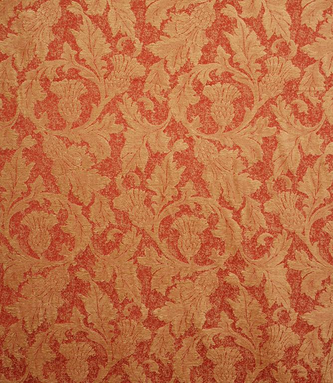 Voyage Decoration Glencoe Fabric Terracotta Just Fabrics