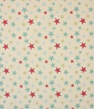 Made to Measure Funky Stars Fabric / Duck Egg