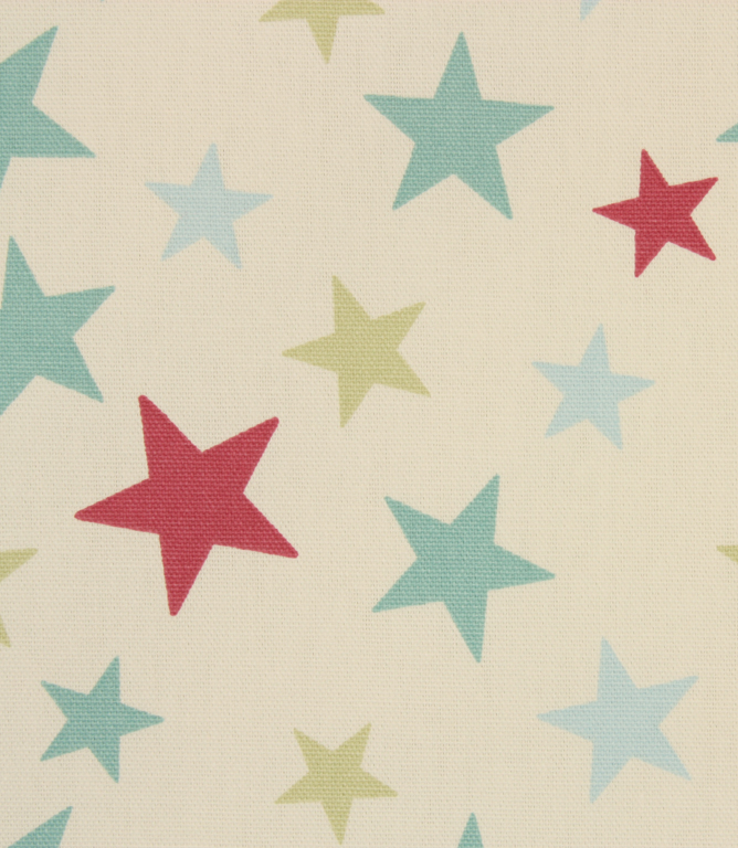 Funky Stars Fabric / Duck Egg
