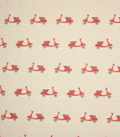 Vespa Ride Fabric / Scarlet