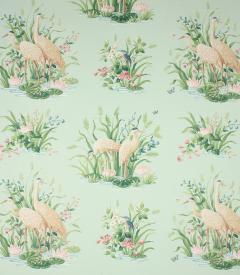 Water Birds Fabric / Aqua