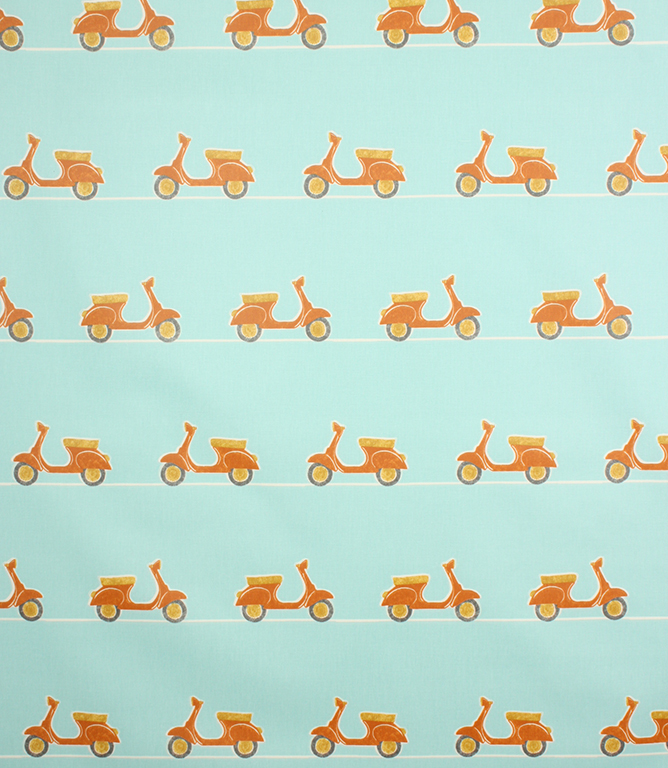 PVC Vespa Ride Fabric / Tangerine