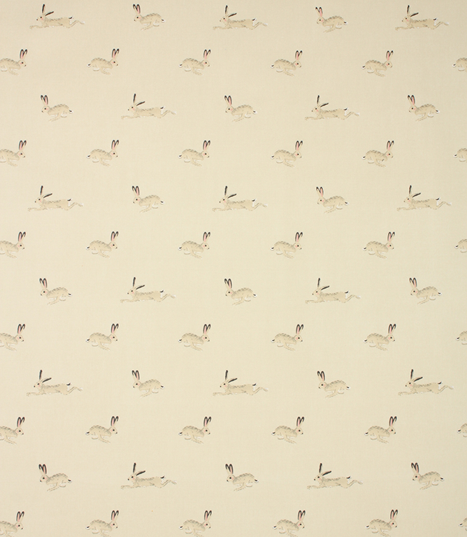 Sophie Allport Hare Oil cloth Fabric / Stone