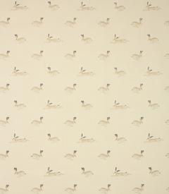 Hare Oil cloth Fabric / Stone