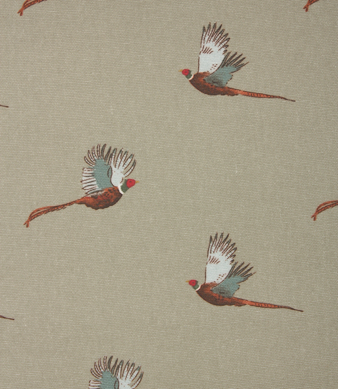 Sophie Allport Pheasant Oil cloth Fabric / Sage
