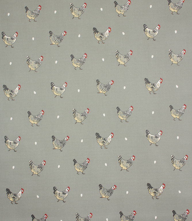 Sophie Allport Chicken oil cloth Fabric / Grey