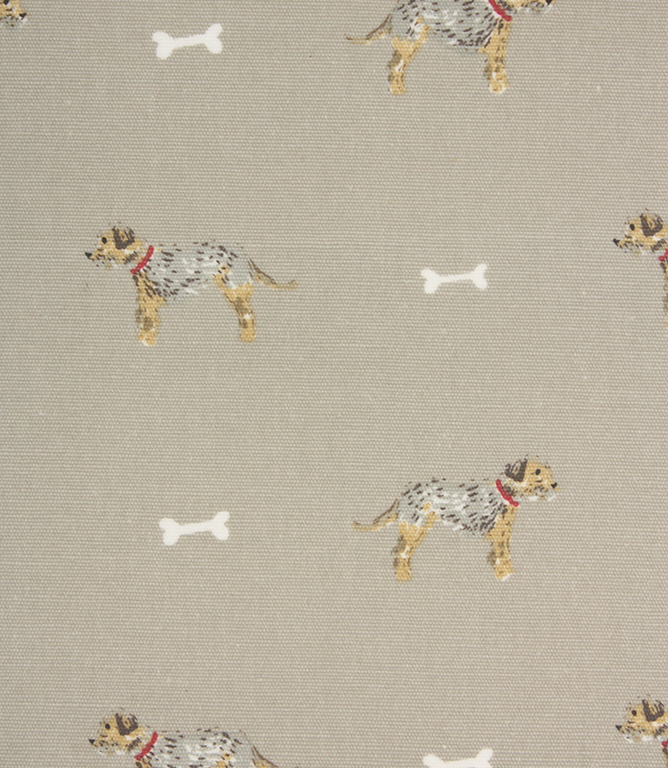 Sophie Allport Terrier Oil cloth Fabric / Taupe