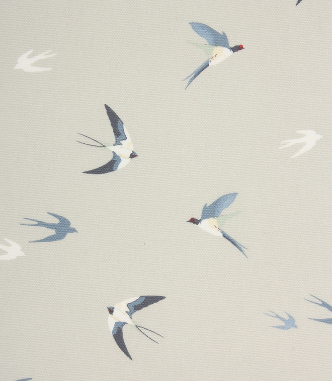 Sophie Allport Swallow Oil cloth Fabric / Sky