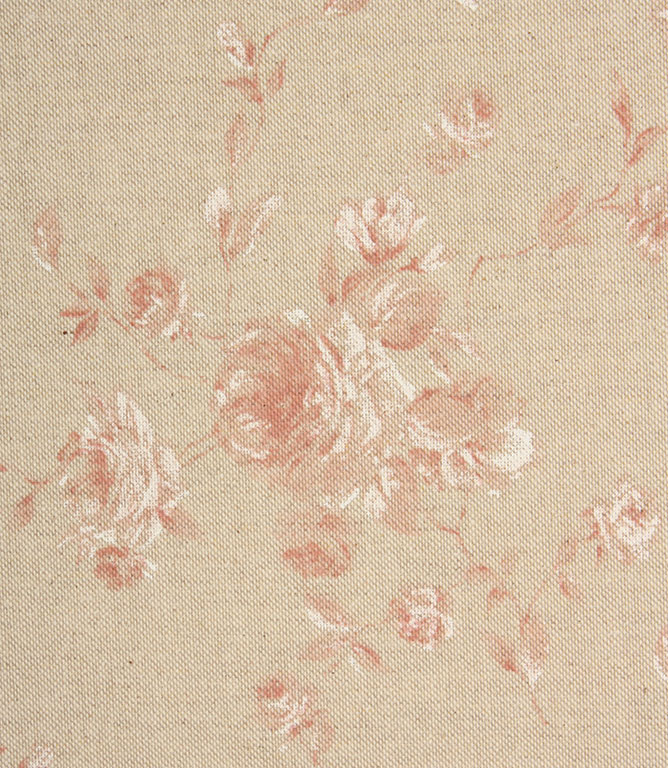 Vintage Floral Fabric / Red