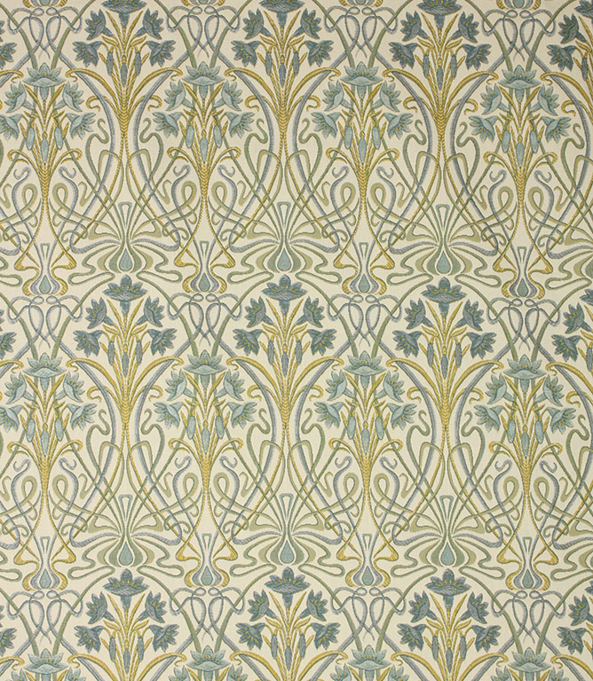 Prussian Tiffany Fabric