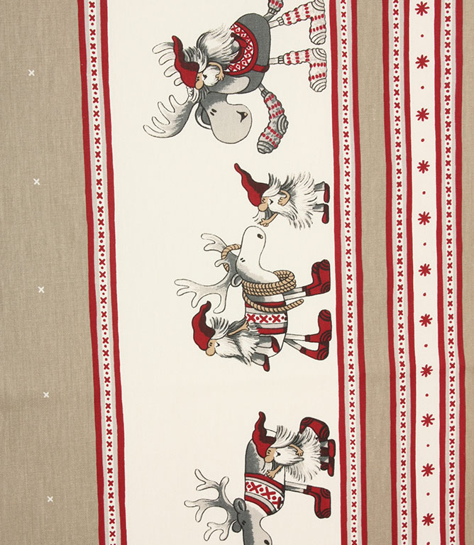 Reindeer Rides Fabric / Silver
