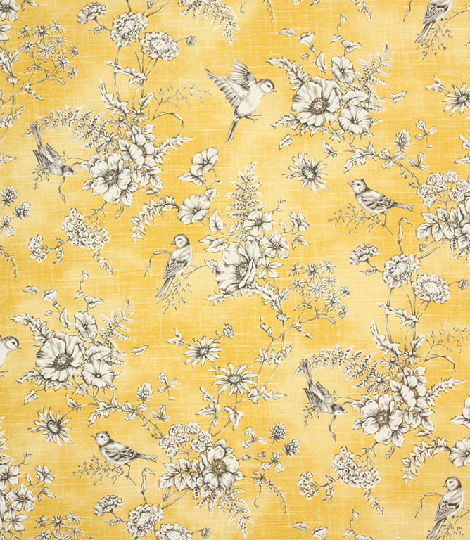 Buttercup Finch Toile Fabric