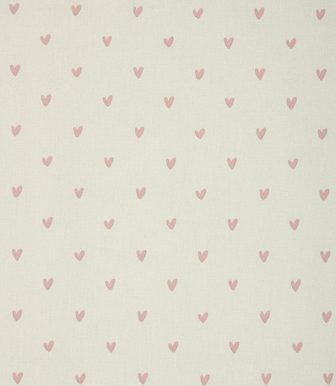 Sophie Allport Hearts Fabric / Pale Grey