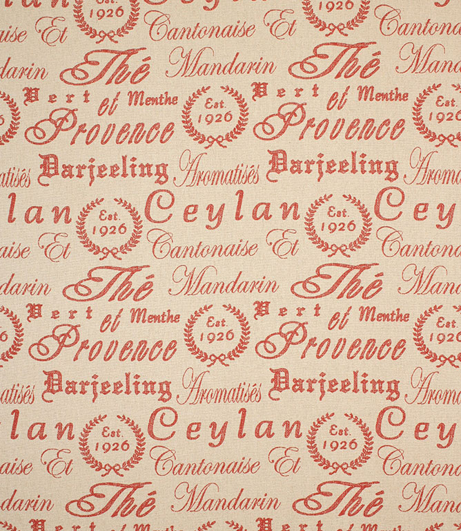 Provence Script Fabric / Berry