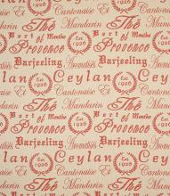 Made to Measure Provence Script Fabric / Berry
