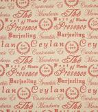 Provence Script / Berry Fabric