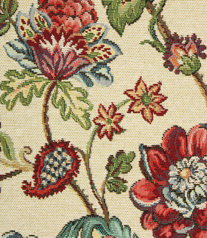 Norfolk Tapestry Fabric / Red