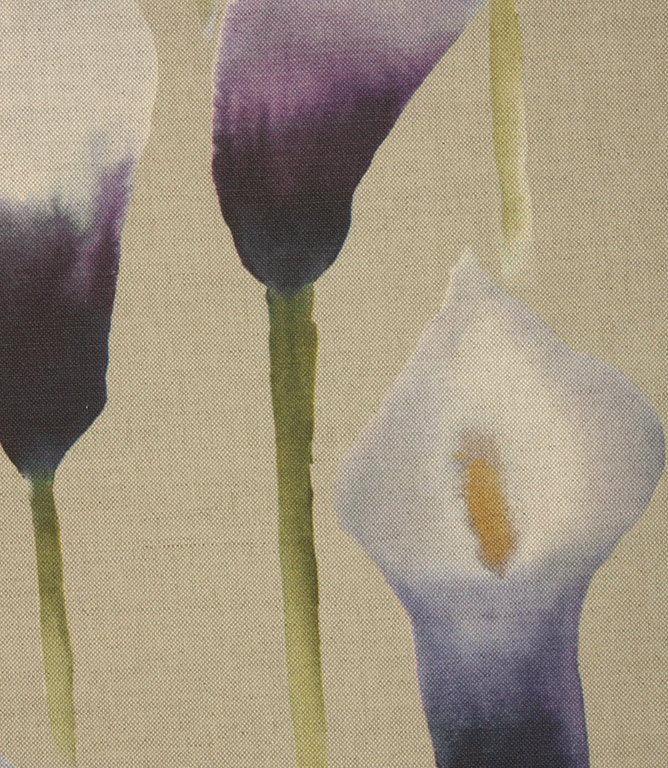 Voyage Decoration Arum Lily Fabric / Damson Natural