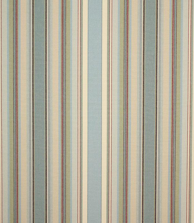 Sage Falmouth Stripe Fabric