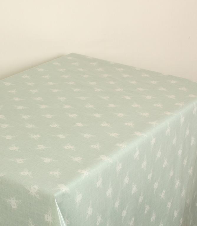 Bees F PVC Fabric / Duck Egg