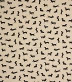 Sausage Dog / Black Fabric