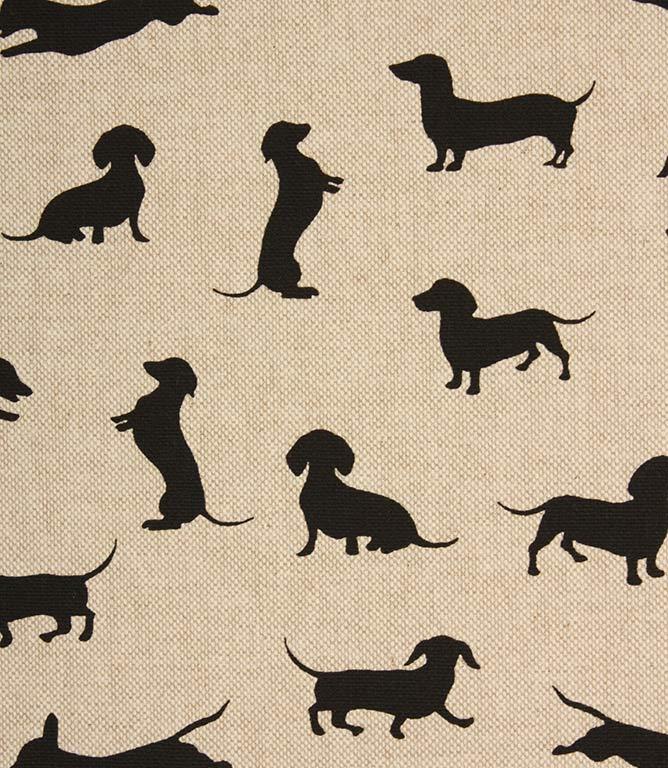 Sausage Dog Fabric / Black