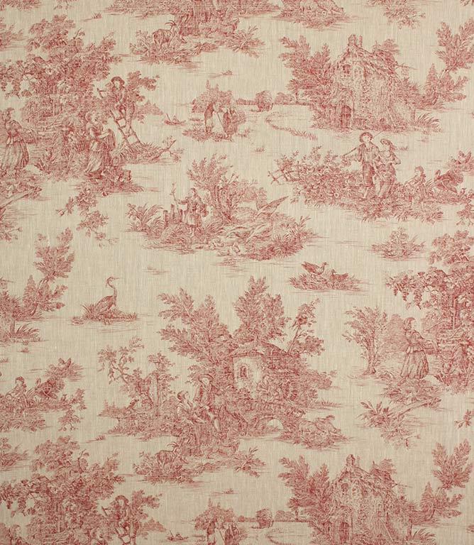 Blenheim Linen Fabric / Red