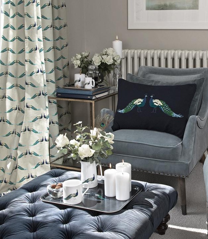 Sophie Allport Peacocks Fabric / Peacock