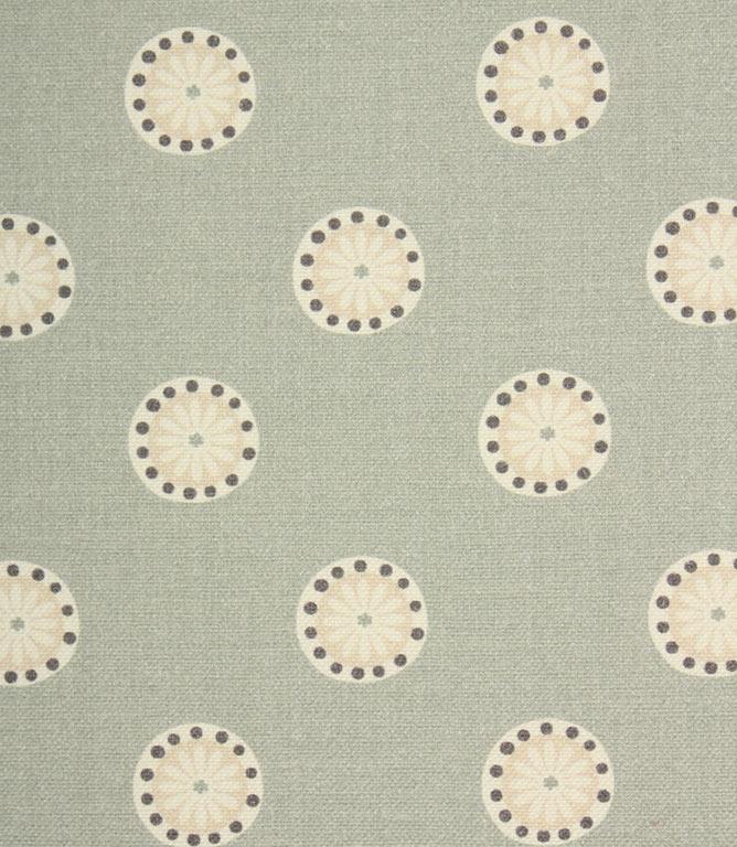 Daisy Spot Fabric / Duck Egg