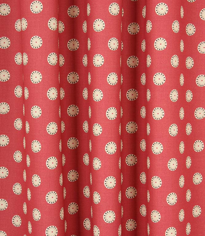 Daisy Spot Fabric / Raspberry