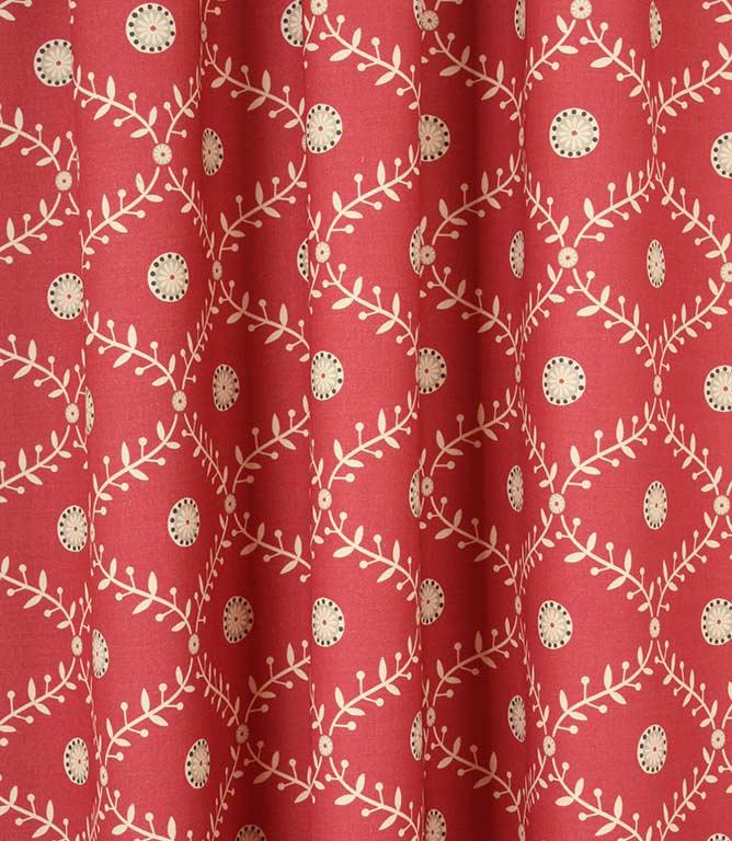 Daisy Trellis Fabric / Raspberry