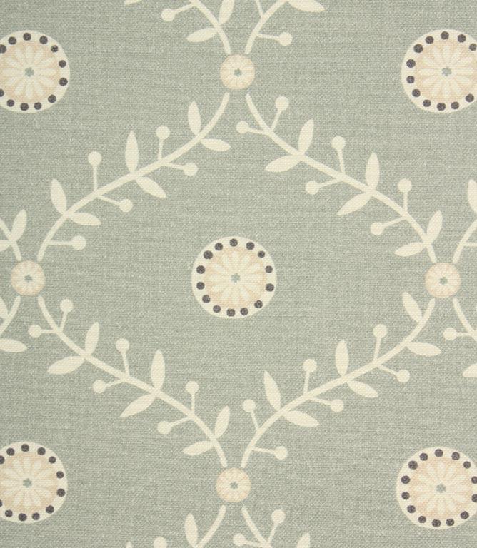 Daisy Trellis Fabric / Duck Egg