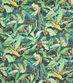 Tropical Parrots  / Navy Fabric