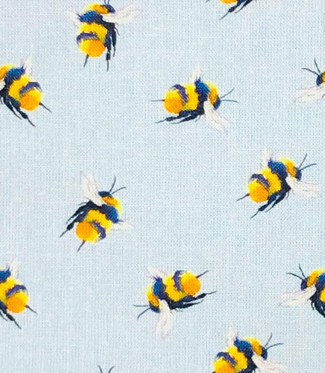 Bumblebee Fabric / Light Blue