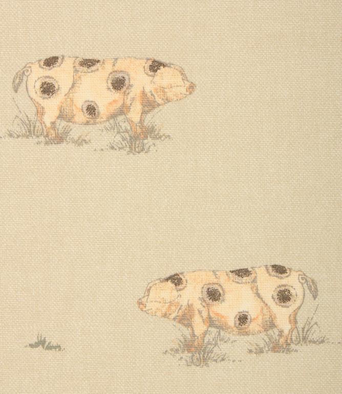 Mr Pig Fabric / Natural