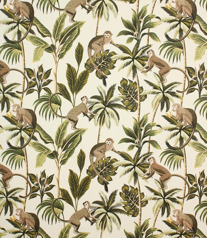 Natural Mr Monkey Fabric