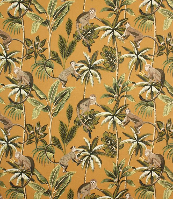 Ochre Mr Monkey Fabric